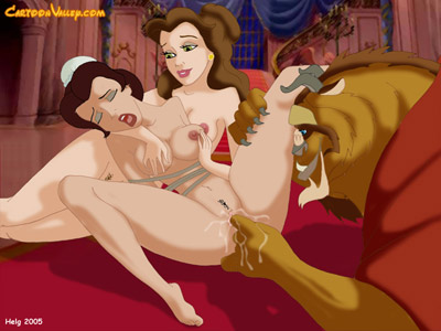 Naked Belle Cartoon