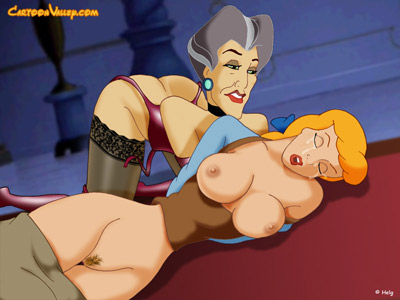 Cinderella and her Stepmother in twisted BDSM