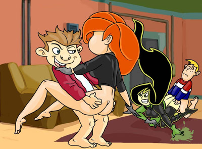 Kim Possible enjoys an orgy