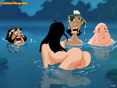 Mulan ends up regretting bathing naked