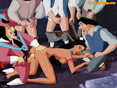 Pocahontas in a gangbang