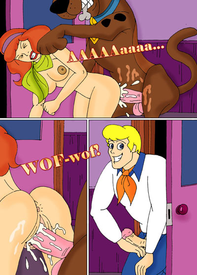 Daphne gets fucked by Scooby Doo